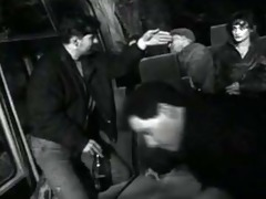 drunk dark brown has sex on the bus with his