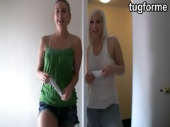 sister and golden-haired busting jacking off jo