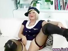 hawt stockings blonde receives off