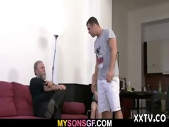 dude finds his lady with his daddy