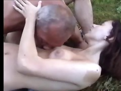 unsightly dad and not his daughter outdoor