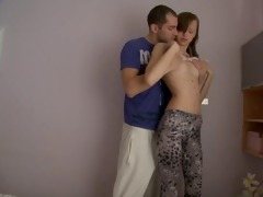 delightsome legal age teenager sister drilled in