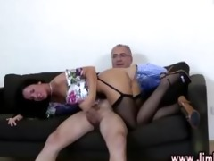brunette young girl doggystyle