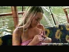 harold has taken marketa on a boat trip along the