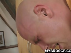 massage leads to fucking with her bfs bro