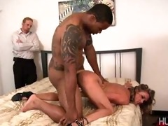 little ramrod husband sees wife fuck darksome