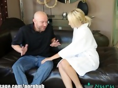 nurumassage sexually excited blonde cuckold