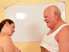 grandpa mireck and pregnant doxy