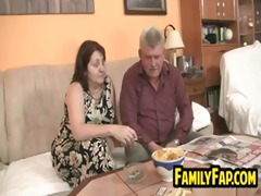 teen screwed by her overweight father in law