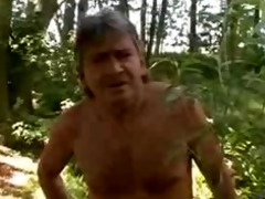 juvenile and old outdoor erotic sex in forest