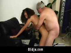 white haired grandpa copulates lascivious