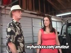 daughter is a garage cum whore