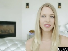 blacked ideal blonde cutie squirts on large black