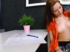 naughty student screwed her own old teacher on