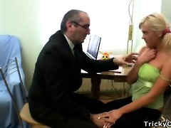 slutty professor seduces hid dumb blonde student
