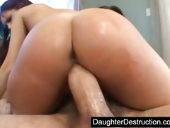 latina daughter drilled hard