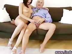 older guy fucking younger angel in ass