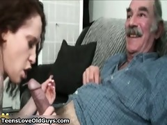 he is is old but his cock is massive and willing
