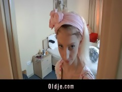 slutty hotel maid copulates an oldman customer