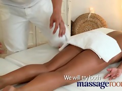 massage rooms petite dark brown gets her tight