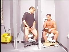 cop bust boys in bathroom