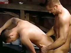 daddy gives son a good drilling