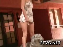 dildo fondles cum-hole
