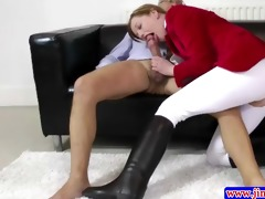 stylish amateur plowed by old man
