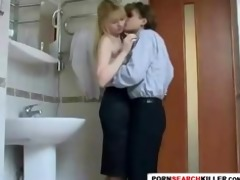 tight legal age teenager bathroom surprise