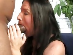 brunette mother acquires boned by a large dark