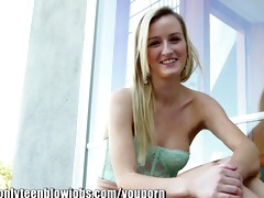 onlyteenbj teen engulfing my ramrod in my backyard