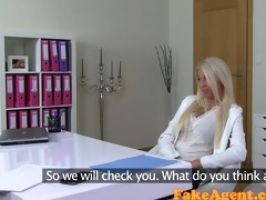 fakeagent creampie for smokin hawt blonde in