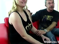 amateur grandpa with sexy blond big beautiful