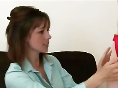 mature woman interviews younger cfnm waiter for