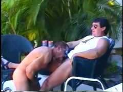 muscled daddy bears enjoying sleazy outdoor cock
