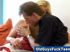 old guy oral sex by sexy younger babe