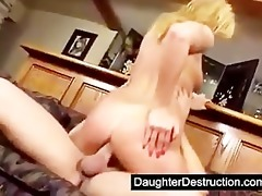 cute daughter assfucked hard