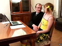 teacher fucks schoolgirl after lessons at his