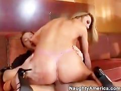 hawt hawt blonde in pink strap fucking a jock